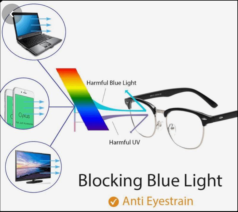 What do blue light lenses do?